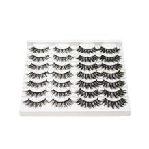 CINLITEK 14 Pairs 2 Styles Natural False Eyelashes Fake Eyelashes Reusable 3D Handmade Mink Lashes Set for Dramatic Look