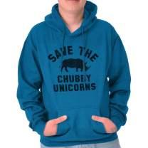 Save The Chubby Unicorns Rhino Funny Geeky Nerd Hoodie