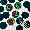 Baker Ross Scratch Art Badges for Children to Personalise (Pack of 10)