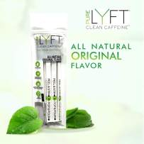 Pure LYFT, Clean Caffeine, All Natural Original Vegan Pre Workout Energy Drink Powder (6 Sticks)
