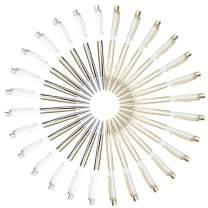 28 PACK Empty Tube Floating DIY Pens,2 Colors,Metal Ballpoint Pen,Building your favorite Liquid Sand Pens Gift