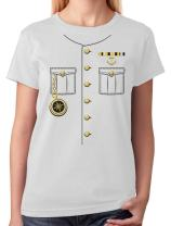 TeeStars - Ship Captain Halloween Costume Outfit Suit Women T-Shirt