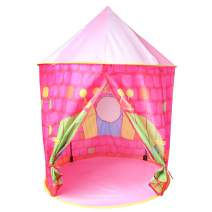"""Digabi 41"""" Large Princess Castle Play Tent Toy Playhouse Indoor & Outdoor Garden Foldable Pop Up Pink Play Tent for Kids Party Favor(No.A999-234-Pink)"""