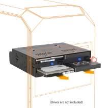 "ICY DOCK Quad Bay 2.5"" SATA/SAS SSD/HDD Trayless Hot-swap Dock/Mobile Rack for 5.25 Drive Bay - flexiDOCK MB524SP-B"