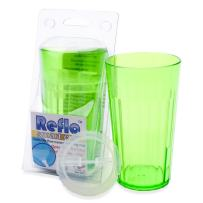 Reflo 360 Rotating Spoutless Training Cup for Baby, Kids and Toddlers (Green)