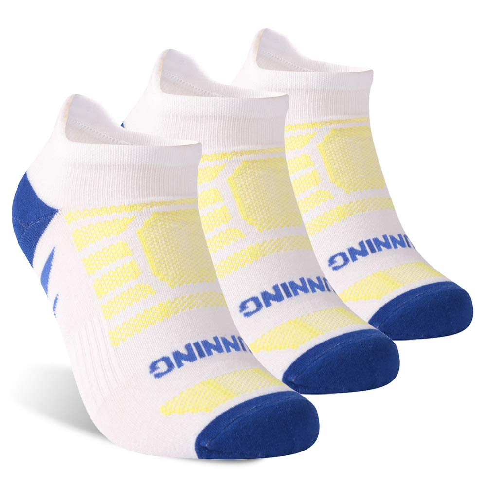 KitNSox Running Socks, Men Women Low Cut Cushioned Ankle No Show Athletic Sports Socks,1/3/6 Pairs