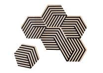 Areaware Table Tiles (Optic Black)