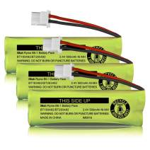 iMah BT183482/BT283482 2.4V 500mAh Ni-MH Cordless Phone Battery Compatible with VTech DS6401 DS6421 DS6422 DS6472 LS6405 LS6425 LS6426 LS6475 LS6476 Handset, Pack of 3