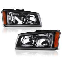 VIPMOTOZ For 2003-2006 Chevy Silverado 1500 2500 3500 Headlights - Matte Black Housing, Driver and Passenger Side