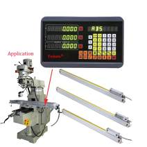"""FASTTOBUY 3 Axis Digital Readout 5um Precision Linear Glass Scale 450mm+5500mm+400mm DRO Display for CNC Wire Cutting Milling Machine (18""""+22""""+16"""")"""