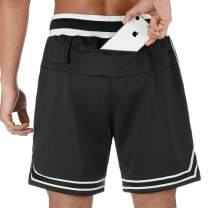 MoonSpecial Mens Running Shorts Quick Drying Breathable Active Training Exercise Jogging Cycling Shorts with Pockets