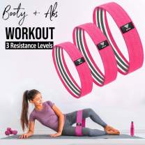 Booty Band - Resistance Bands Set, Non-Slip Fabric Resistant Fitness Workouts Exercise Bands for Women Glute Butt and Legs   Men Home Gym Equipment for Workout   Loop Resistence Band