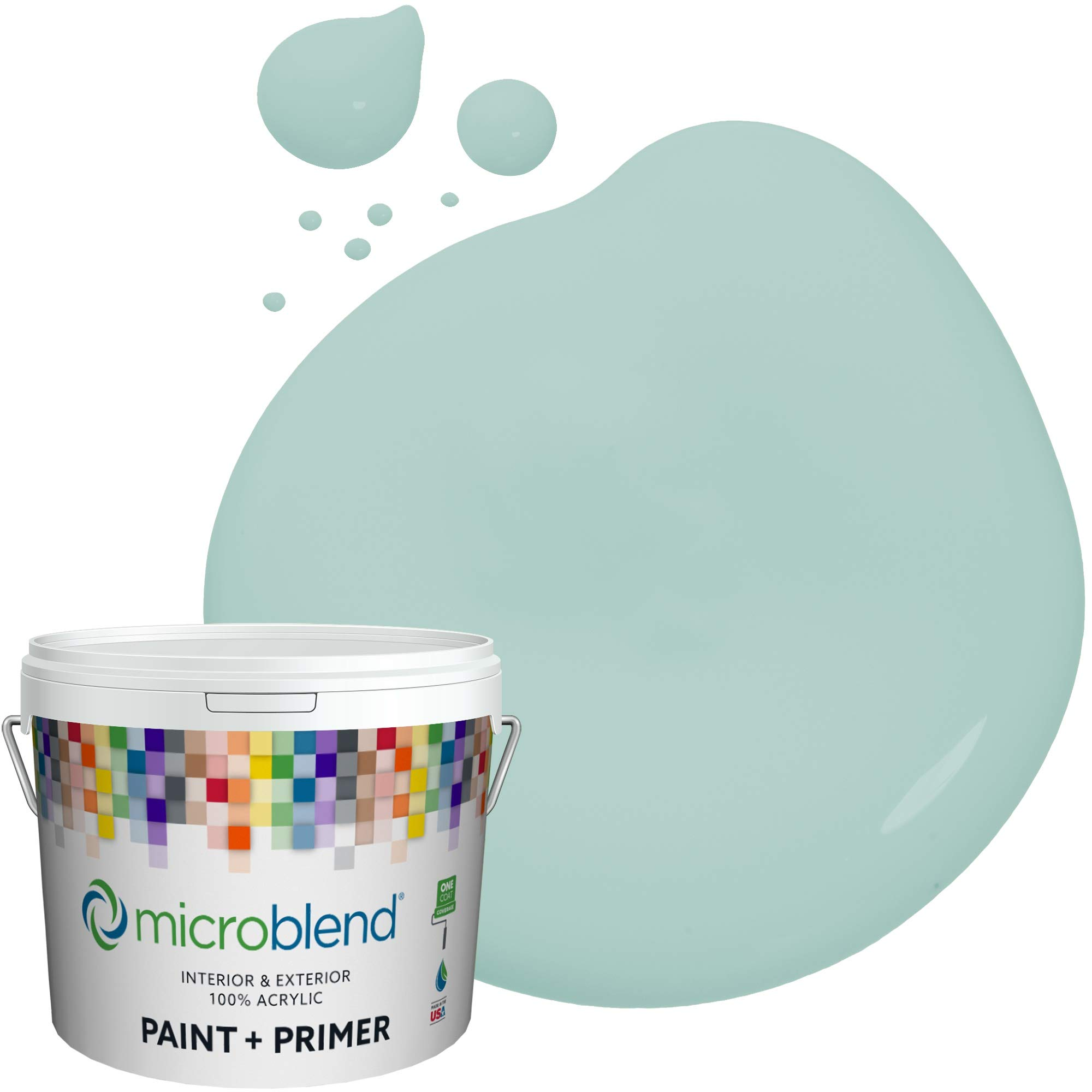 MicroBlend Interior Paint + Primer, Shower of Spring, Semi-Gloss Sheen, 1 Gallon, Custom Made, Premium Quality One Coat Hide & Washable Paint (73240-2-M0455B3)