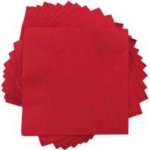 JAM PAPER Small Beverage Napkins - 5 x 5 - Red - 600/Box