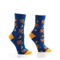 Yo Sox Night Owl Funky Women's Crew Socks for Dress or Casual Wear Size 5-10
