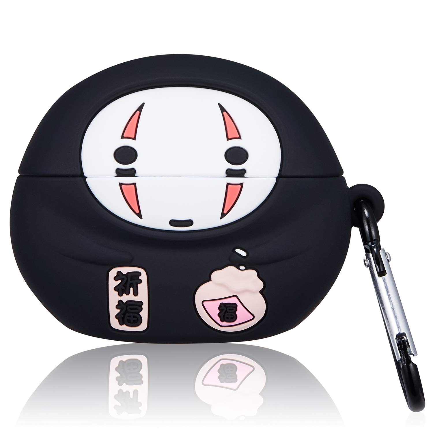 Gift-Hero Q Faceless Case for Airpods Pro/for Airpods 3, Cartoon Cute Funny Design for Girls Boys Kids, Unique Carabiner Protective Fun Fashion Unique Character Skin Soft Silicone Cover for Air pods 3