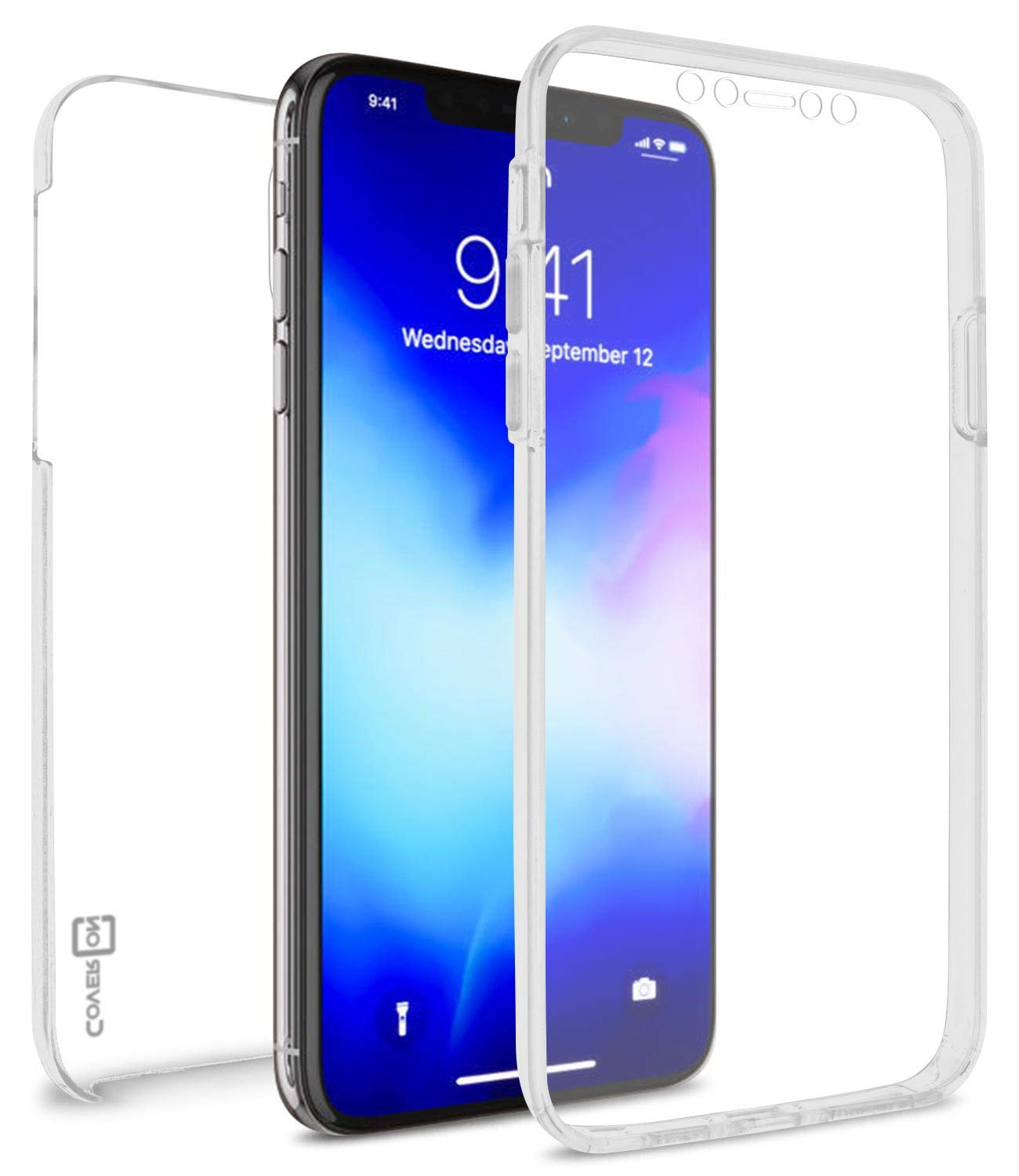 CoverON Full Body WrapGuard Series for iPhone 11 Case with Screen Protector, Clear