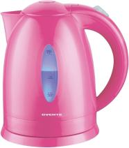 Ovente Electric Water Kettle 1.7 Liter with LED Indicator Light, 1100 Watts Fast & Concealed Heating Element, BPA-Free, Auto Shutoff Function and Boil Dry Protection, Pink (KP72P)