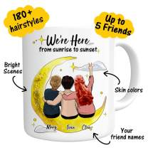 Custom Best Friend Coffee Mug for Women - Personalized Photo for Friend Women - Customizable Name Cup For Besties Friendship BFF Bridesmaid Graduation Birthday Moving Away