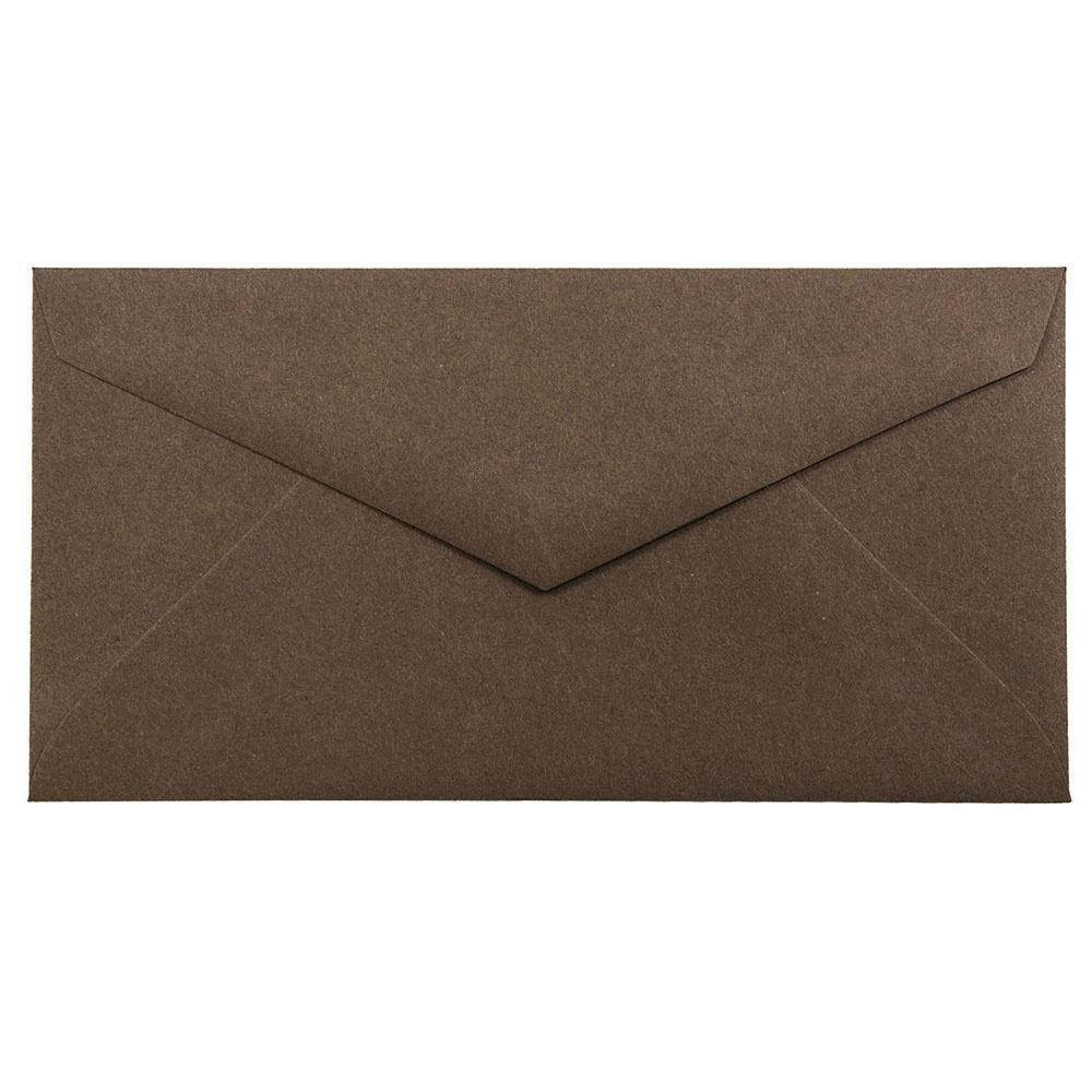 JAM PAPER Monarch Premium Envelopes - 3 7/8 x 7 1/2 - Chocolate Brown Recycled - 25/Pack