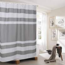 TEALP Fabric Hotel Home Quality Polyeste Blend Fabric Shower Curtain with Rustproof for Bathroom Showers and Bathtubs Light Grey 72 x 72 Inch