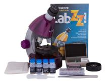Levenhuk LabZZ M101 Amethyst Microscope for Kids with Experiment Kit – Choose Your Favorite Color