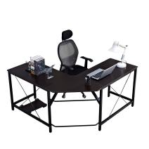 sogesfurniture 59 x 59 Inches Large L-Shaped Desk Corner Table Computer Desk Workstation Desk PC Laptop Office Desk L Desk,Black BHUS-ZJ02-BK