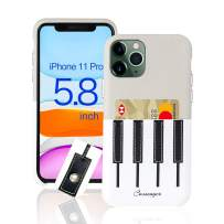 Cassenger Piano Series Leather Case with Free Cable Organizer for iPhone 11 Pro(2019) - Marble/White