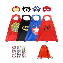 Superhero Capes for Kids Toys for 3-9 Year Old Boys Gifts Kids Dress up Super Hero Costumes