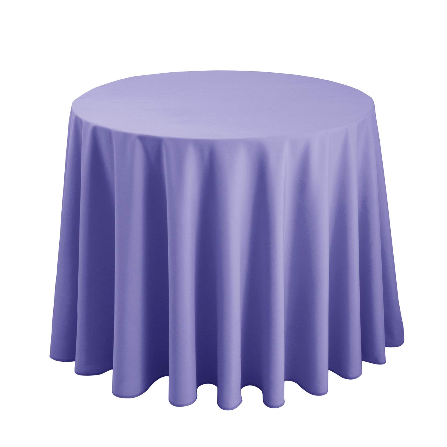 Hiasan Round Tablecloth 108 Inch - Waterproof Stain Resistant Spillproof Polyester Fabric Table Cloth for Dining Room Kitchen Party, Lavender