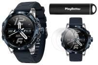 COROS VERTIX GPS Adventure Watch (Ice Breaker) Power Bundle | with HD Screen Protectors & PlayBetter Portable Charger | Sapphire Glass, Waterproof & 24/7 Oximeter