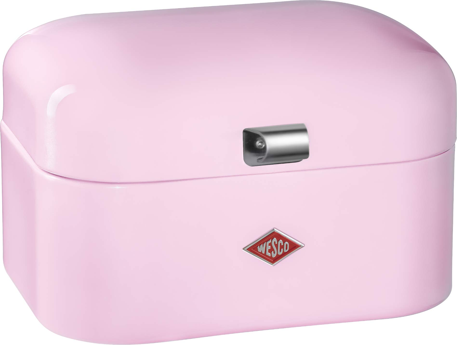 Wesco Single Grandy – Steel bread box for kitchen/storage container, Pink