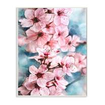Stupell Industries Branch of Blooming Cherry Blossoms Pink Blue Wall Art, 10 x 15