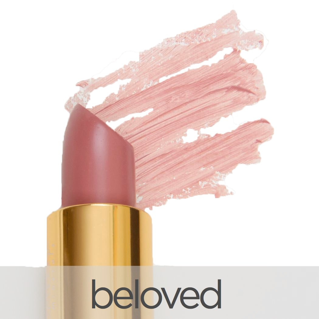 La Bella Donna Mineral Light Up Lip Colour   All Natural Pure Mineral Lipstick   Long-Lasting Color   Hydrating Formula   Hypoallergenic and Cruelty Free - Beloved