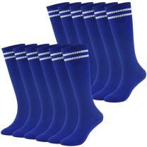 Youth Baseball Socks Fasoar Teens Long Striped Knee High Rugby Football Socks 3/8/12 Pairs