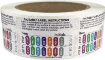 Reusable Food Labels for Food Rotation Storage Prep 1.5 x 2 Inch 500 Adhesive Stickers