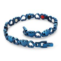 WelMag Women Fashion Style Magnetic Energy Bracelet Could Adjustable(Free Remove Tool) (Blue)