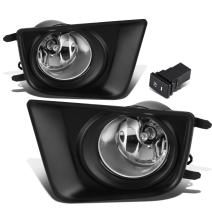 Replacement for Tacoma Pair of Driving Bumper Fog Lights + Wiring + Switch (Chrome Lens)