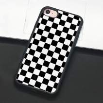Checkerboard Phone Case for iPhone 11 Pro Max XS Max XR X 8 Plus 7 Plus 8 7 6 6s 5s 5 se Hard Cover Grid Lattice Plaid Tartan Damier House Checkerboard Chessboard Checker Flag (iPhone 7/8,1)