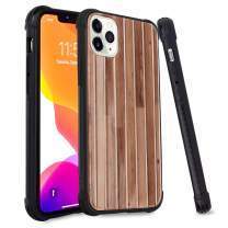 iPhone 11 Pro Max Trunk Case Retro Wood Pattern Luxury Hard PC and TPU Bumper Shockproof Protective Suitcase Phone Case for iPhone 11 Pro Max 6.5 Inch 2019