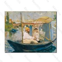 Baocicco 16x12 Inches The Boat Canvas Print Picture Home Wall Decor Canvas Wall Art Oil Painting Decor for Living Room Rustic Style Courier Station No Frame Poster