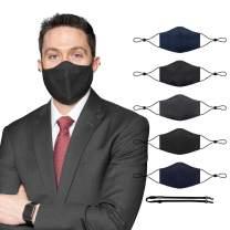 SchoolMaskPack Teen/Adult XXL Reusable Wool Face Mask Set, Liquid-Repellent, Back to School Supplies