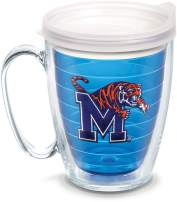 Tervis 1084383 Memphis Tigers Logo Tumbler with Emblem and Frosted Lid 16oz Mug, Blue