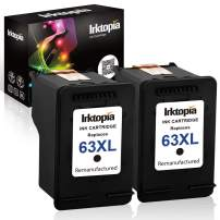 Inktopia Remanufactured Ink Cartridge Replacement for HP 63 XL 63XL Use with HP OfficeJet 5255 5258 3830 3831 3832 Envy 4512 4516 4520 DeskJet 1112 2130 3633 3634 Printer 2 Black