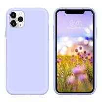 GUAGUA iPhone 11 Pro Max Case Liquid Silicone Soft Gel Rubber Slim Lightweight Microfiber Lining Cushion Cover Shockproof Protective Phone Case for iPhone 11 Pro Max 6.5-inch 2019 Lilac Purple