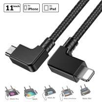 O'woda Micro USB to iPhone / iPad Data Cable 11.4inch Nylon Braided Right Angle Connector OTG Cord for DJI Mavic Pro / Spark / Mavic Air / Mavic 2 Pro & Zoom