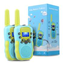 TekHome Outside Toys for 3 4 5 Year Old Boys, Blue Walkie Talkies for Kids, Twin Baby Gifts for 6 7 8 9 10 Year Olds Girls, 2 Pack 3-Mile Long Range Toddler Walkie Talkies, FRS/GMRS 22 Channels.