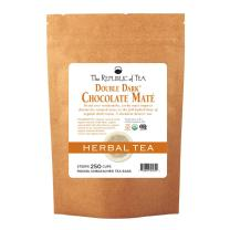 The Republic of Tea Organic Double Dark Chocolate Mate, 250 Tea Bag Bulk