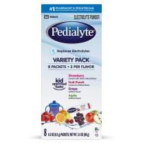 Pedialyte Electrolyte Powder, Variety Pack, Electrolyte Hydration Drink, 0.3 Oz Powder Packs, 8 Count