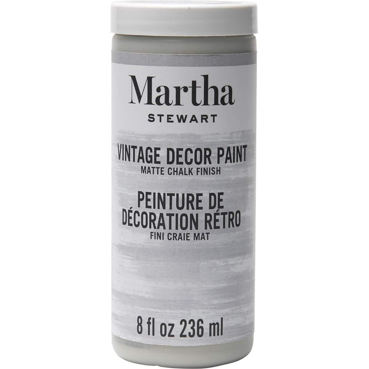Martha Stewart Crafts Martha Stewart Vintage Decor Matte Chalk Smoke, 8 oz Paint, 8 Fl Oz